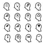Positive thinking icons man Stock Photography