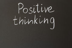 Positive thinking. Inscription in chalk on a blackboard - positive thinking Royalty Free Stock Photography