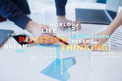 Positive thinking Life change. Business concept. Words cloud. stock photo