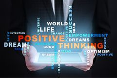 Positive thinking Life change. Business concept. Words cloud. Positive thinking Life change. Business concept. Words cloud stock photos