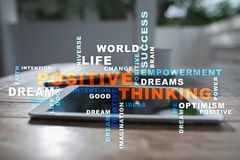 Positive thinking Life change. Business concept. Words cloud. Positive thinking Life change. Business concept. Words cloud stock photography
