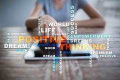 Positive thinking Life change. Business concept. Words cloud. Positive thinking Life change. Business concept. Words cloud royalty free stock images
