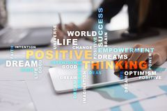Positive thinking Life change. Business concept. Words cloud. Positive thinking Life change. Business concept. Words cloud royalty free stock photo