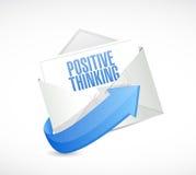 positive thinking mail illustration design Royalty Free Stock Photography