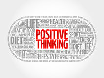 Positive thinking medical pill word cloudc Royalty Free Stock Photo