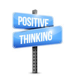 Positive thinking road sign Stock Image