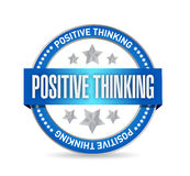 Positive thinking seal illustration design Royalty Free Stock Photos