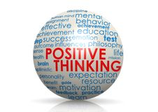 Positive thinking sphere Royalty Free Stock Photography