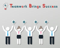 Positive thinking teamwork business concept Royalty Free Stock Photos