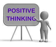 Positive Thinking Whiteboard Means Optimism Royalty Free Stock Photo