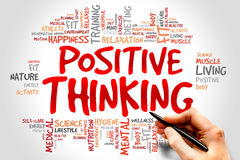 Positive thinking. Word cloud, health concept Royalty Free Stock Photo