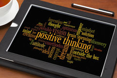 Positive thinking word cloud royalty free stock photo