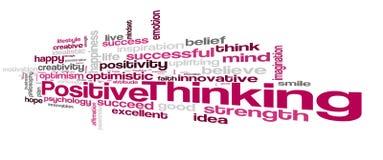 Positive thinking word cloud Stock Photos