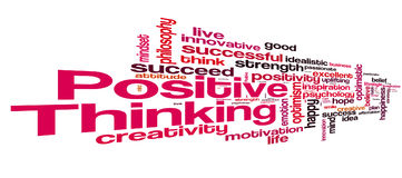 Positive thinking word cloud stock illustration