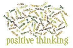 Positive thinking word cloud Stock Image