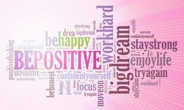 Positive thinking, words attitude concept. Royalty Free Stock Photos