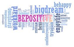 Positive thinking, words attitude concept. Stock Photos