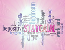 Positive thinking, words attitude concept. Stock Photography