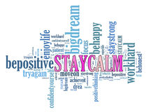 Positive thinking, words attitude concept. Stock Images