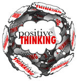 Positive Thinking Words Thought Clouds Sphere Royalty Free Stock Images