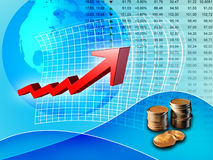 Positive trend. Stock market positive trend. Digital illustration Royalty Free Stock Photos
