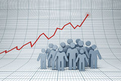 Positive trend. Concept of positive trend in business Royalty Free Stock Photography