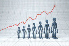 Positive trend Stock Photo