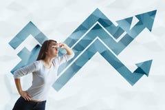Positive trend concept Royalty Free Stock Photos