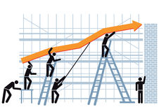 Positive trend line Royalty Free Stock Photos