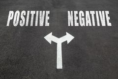 Positive vs negative choice concept royalty free stock photos