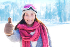 Positive winter sports Royalty Free Stock Photography