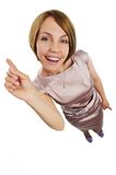 Positive woman Royalty Free Stock Photography