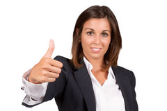 Positive woman Stock Images