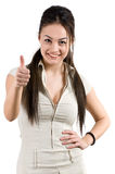 Positive woman Royalty Free Stock Image