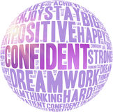 Positive words. Positive thinking, attitude concept. Stock Image