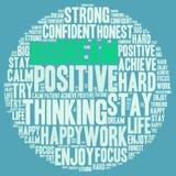 Positive words. Positive thinking, attitude concept. Royalty Free Stock Photos