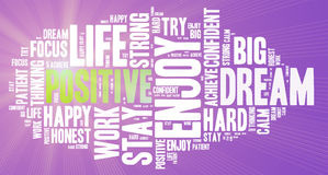 Positive words. Positive thinking, attitude concept. Royalty Free Stock Image