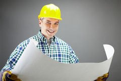 Positive worker Stock Photo
