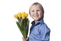 Boy with flower Royalty Free Stock Photography