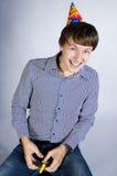 Positive young man, studio shot royalty free stock photo