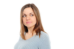 Positive Young Woman Royalty Free Stock Photo