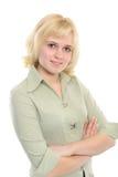 Positive Young Woman Stock Photos
