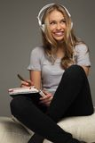 Positive young woman student Royalty Free Stock Photography