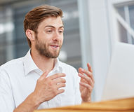 Positively engaging with modern communication options Stock Photography