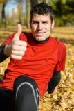 Positiver Athlet Stockfotografie