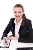 Positiver Bankangestellter. Lizenzfreie Stockbilder