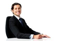 Positiver Geschäftsmann lizenzfreie stockbilder