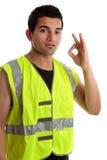 Positiver Heimwerker oder Erbauer stockfotografie