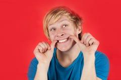 Positiver junger Mann Stockfotografie