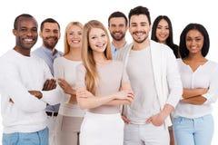 Positives Berufsteam Lizenzfreies Stockfoto